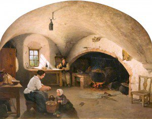 James Cassie - The Kitchen of Barra Castle, Aberdeenshire
