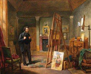 John Ballantyne - Thomas Faed at His Easel in His Studio