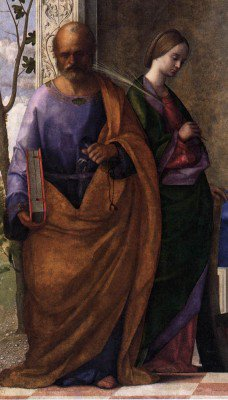 Bellini, Giovanni - San Zaccaria Altarpiece (detail)