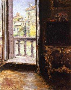 William Merritt Chase - A Venetian Balcony