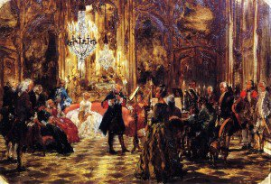 Adolph von Menzel - The Flute Concert at Sanssouci (sketch)