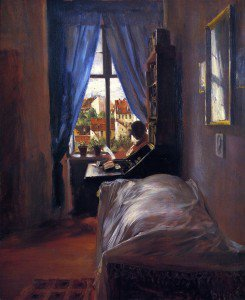Adolph von Menzel - The Artist's Bedroom in Ritterstrasse