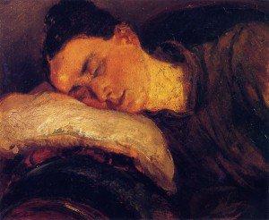 Adolph von Menzel - Woman Sleeping