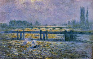 Claude Monet - Charing Cross Bridge, Reflections on the Thames