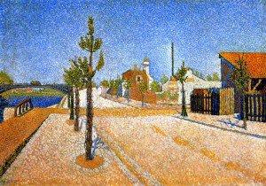 Paul Signac - Sunlight, Quai de Clichy, Opus 157