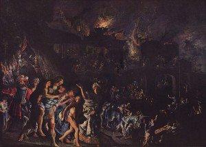 Adam Elsheimer - The Burning of Troy
