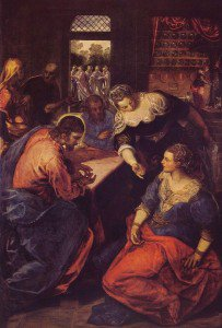 Tintoretto - Christ in the House of Martha and Mary