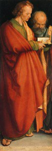 Albrecht Dürer - Four Holy Men (left panel): St. John and St. Peter