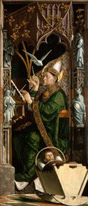 Michael Pacher - Altarpiece of the Church Fathers (right panel: Saint Ambrose)