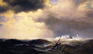 Edward Moran - Shipwrecked