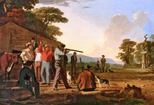 George Caleb Bingham - Shooting for the Beef