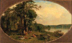 James McDougal Hart - Picnic on the Hudson