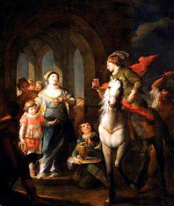 Andrea Casali - Edward Martyr Being Stabbed in the Back in the Presence of Elfredo at Corfe Castle