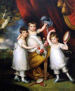 Mather Brown - Miss Mary Barbara, Miss Mary Isabella, and Master Thomas Aston Clifford