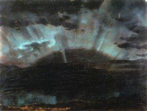 Frederic Edwin Church - Aurora Borealis, Mt. Desert Island, from Bar Harbor, Maine