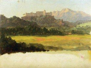 Frederic Edwin Church - Salzburg, Austria, View of the Castle