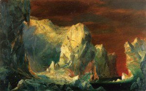 """Frederic Edwin Church - """"Study for The Icebergs'""""'"""""""""""