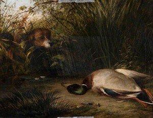 Arthur James Stark - A Pointer and a Dead Wild Duck