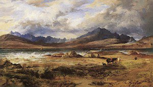 Horatio McCulloch - The Cuillins from Ord