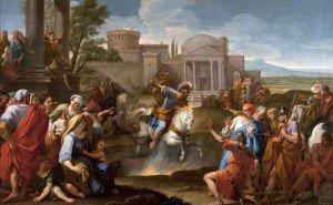Luigi Garzi - The Sacrifice of Marcus Curtius