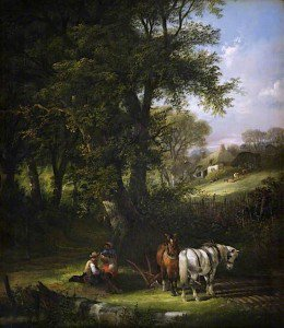 William Shayer Snr - Ploughing