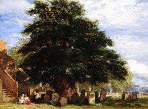 David Cox - Darley Churchyard, Derbyshire
