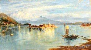 John Wharlton Bunney - Lake with Islands and a Mountain Backdrop