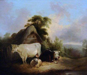 William Shayer Snr - The White Cow
