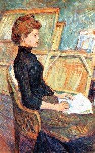 Henri de Toulouse-Lautrec - Studio Model: Helene Vary