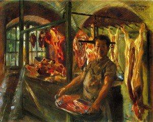 Lovis Corinth - Butcher's Shop at Schaftlarn an der Isar