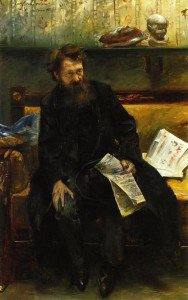 Lovis Corinth - Portrait of the Poet Peter Hille