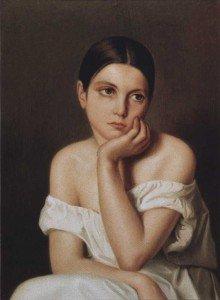 Théodore Chassériau - Portrait of sister Aline