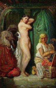 Théodore Chassériau - A Bath in the Harem