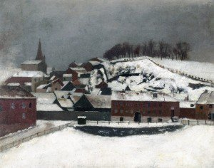 Edvard Munch - View from Vossveien 7 towards Bergfjerdingen