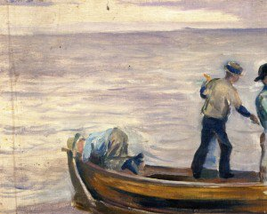 Edvard Munch - Boat with Three Boys