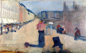 Edvard Munch - From Karl Johan