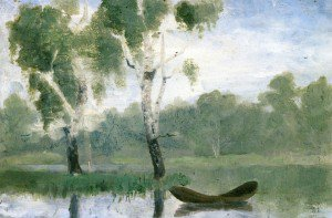 Edvard Munch - Small Lake with Boat