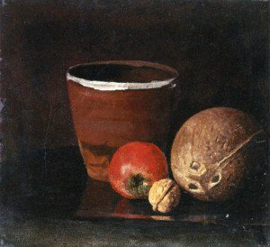 Edvard Munch - Still LIfe with Jar, Apple, Walnut and Coconut