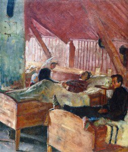 Edvard Munch - The Infirmary at Helgelandsmoen