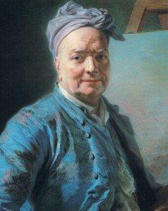 Maurice Quentin de La Tour - Portrait of Louis de Silvestre