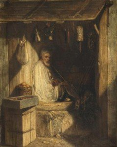 Alexandre-Gabriel Decamps - Turkish Merchant Smoking in his Shop (Marchand turc fumant dans sa boutique)