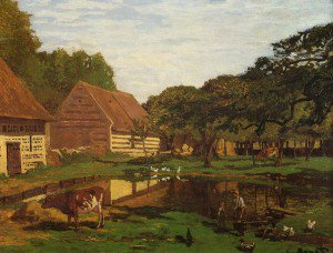 Claude Monet - Farmyard in Normandy