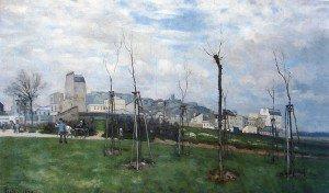 Alfred Sisley - View of Montmartre from the Cite des Fleurs, Les Batignolles