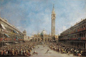 Francesco Guardi - The Doge of Venice is Carried by Gondoliers following His Election