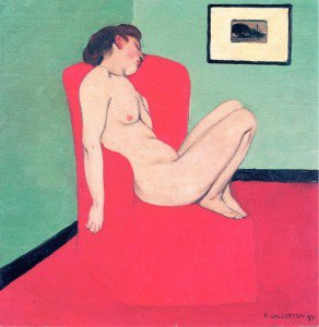 Felix Vallotton - Nude Seated in a Red Armchair