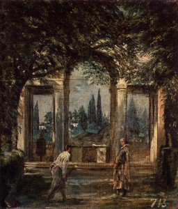 Diego Velázquez - The Gardens of the Villa Medici in Rome with the Statue of Ariadne