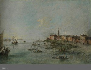 Francesco Guardi - The Giudecca Canal with the Church of Saint Martha