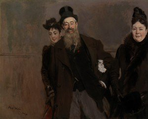 Giovanni Boldini - John Lewis Brown with Wife and Daughter