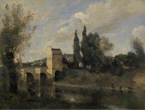 Jean-Baptiste-Camille Corot - The Bridge at Mantes