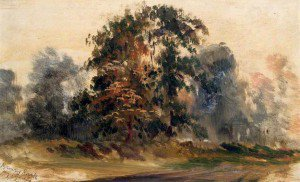 Walter William Acock - Mrs Brown's Park from My Studio, Oval Road, Croydon, Surrey